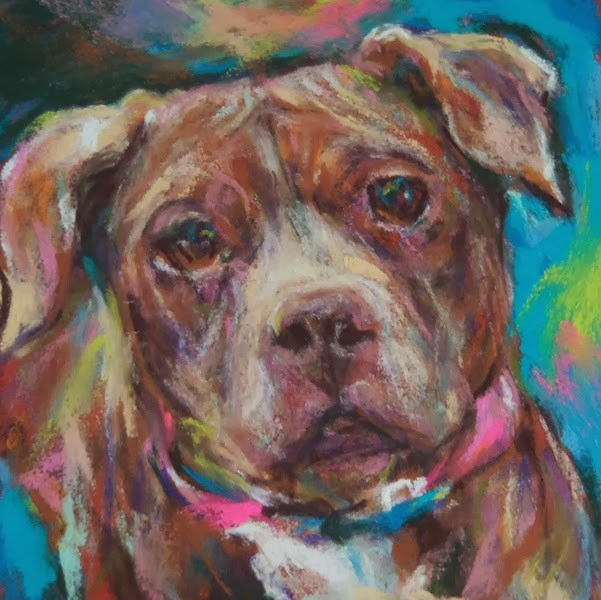 """JENN'S BABY - 4 1/2 x 4 1/2 pastel by Susan Roden"" original fine art by Susan Roden"