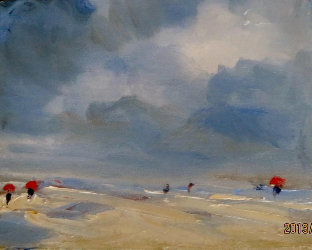 """Before the rain  (Oregon Coast)"" original fine art by Astrid Buchhammer"
