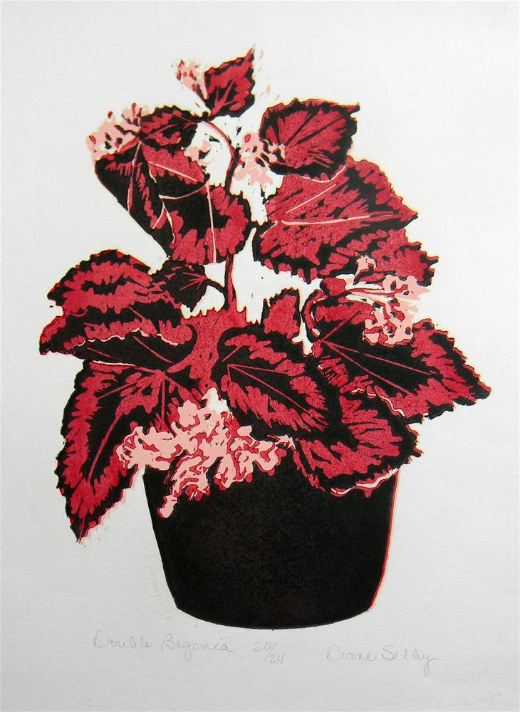 """Double Begonia"" original fine art by De Selby"