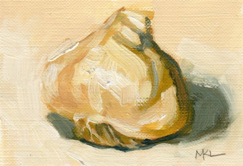 """Garlic"" original fine art by Marlene Lee"