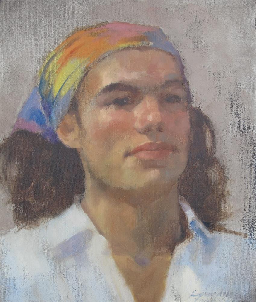"""Young Farmer"" original fine art by Nancy  Spinadel"