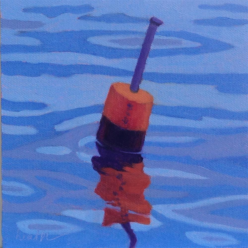 """""""Lobster Buoy 1"""" original fine art by Bobbi Heath"""