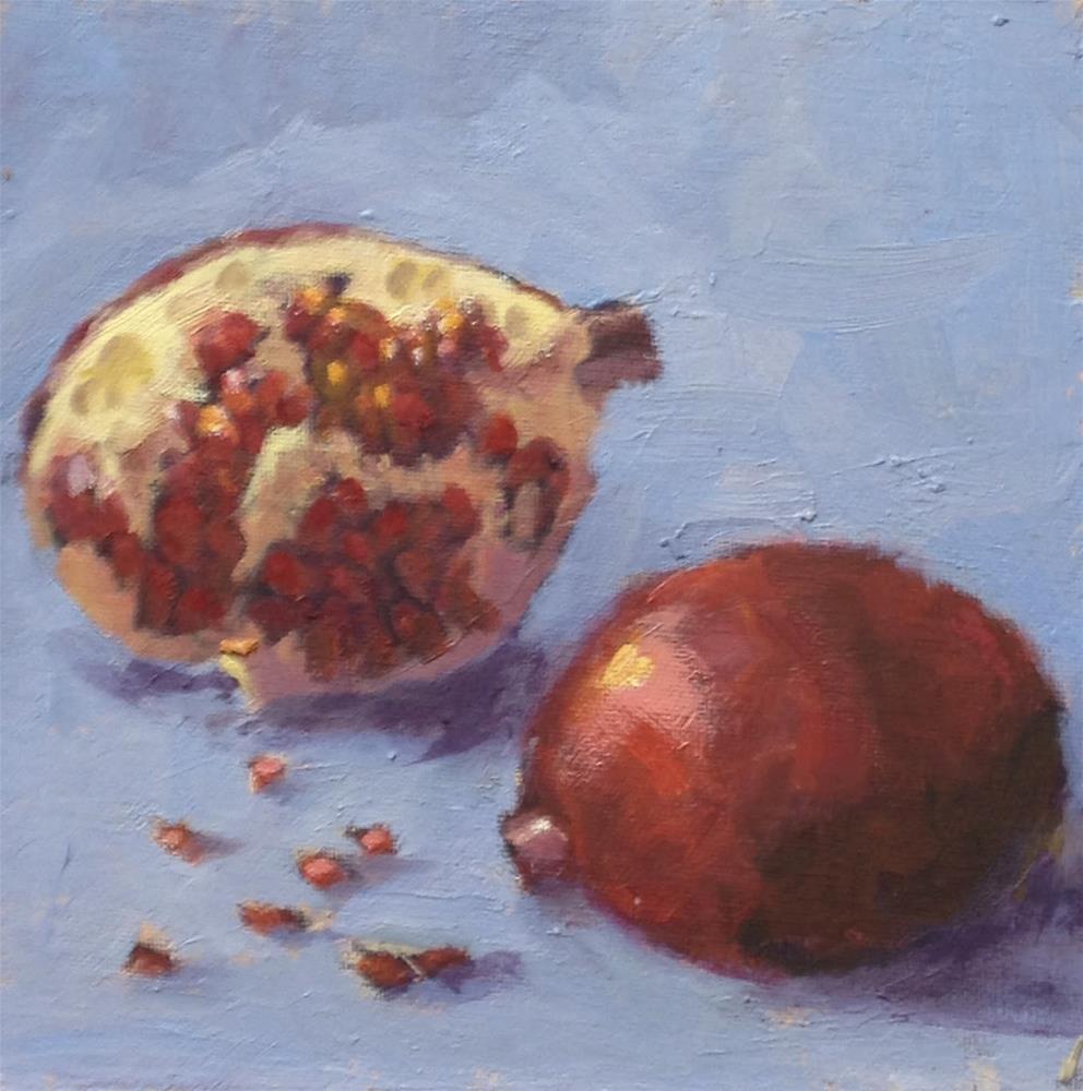 """Pomegranate"" original fine art by Mo Teeuw"