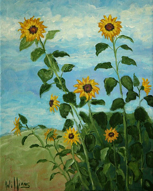"""Sunflowers"" original fine art by Sunny Williams"