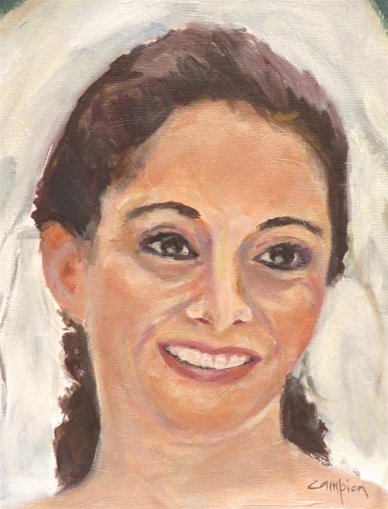 """743 Beautiful Bride"" original fine art by Diane Campion"