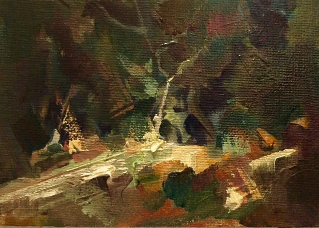 """""""Garden Corner"""" original fine art by Anne Wood"""