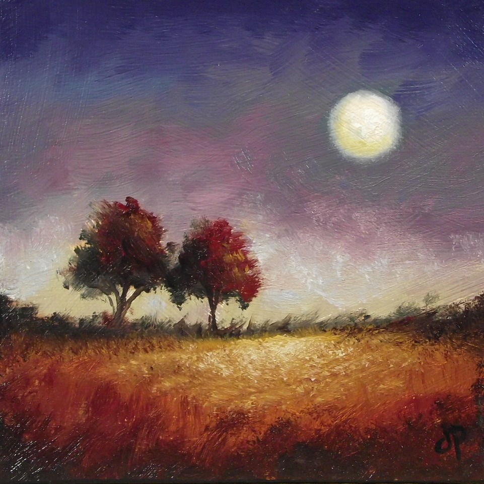 """Red Trees"" original fine art by Jane Palmer"