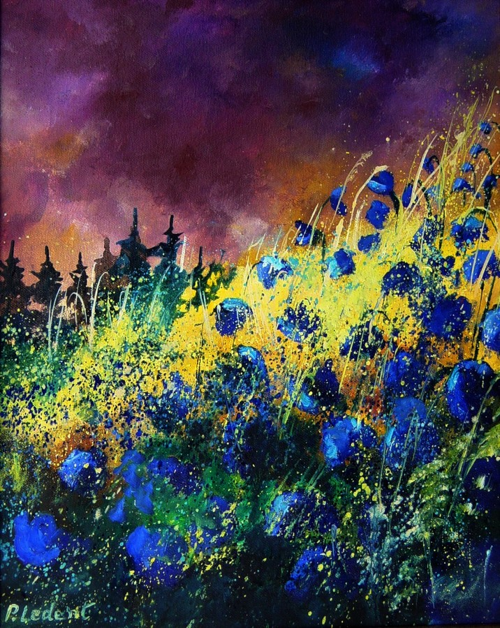 """Cornflowers"" original fine art by Pol Ledent"