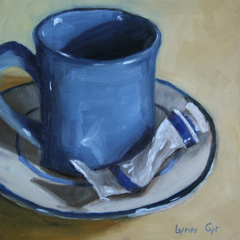 """""""Blue Plate Special"""" original fine art by Lynn Cyr"""