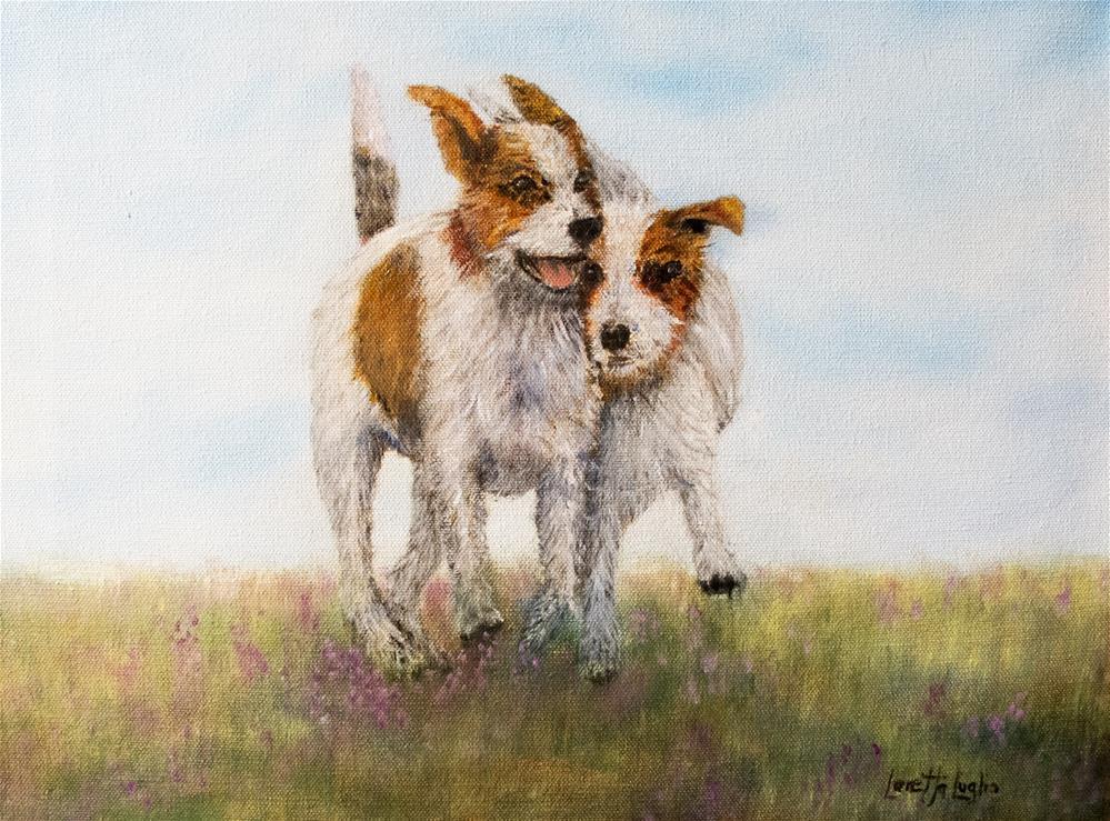 """""""Pals"""" original fine art by Loretta Luglio"""