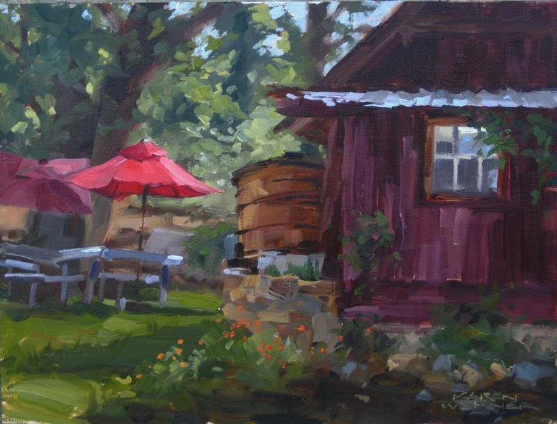"""Cider Mill Morning"" original fine art by Karen Werner"