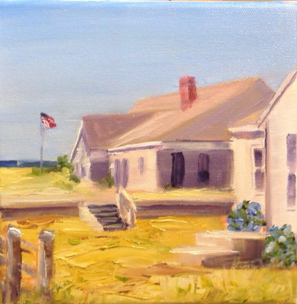 """Craigville Beach Cottage"" original fine art by Debra Kennedy"