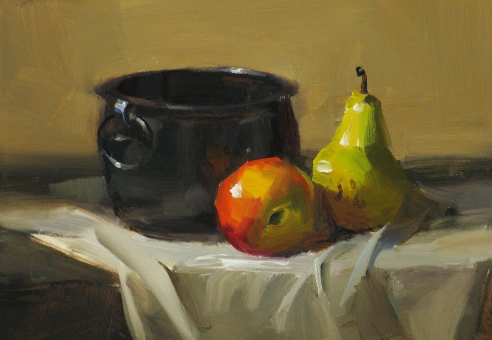 """""""""""Fruit for Today"""" original fine art by Qiang Huang"""