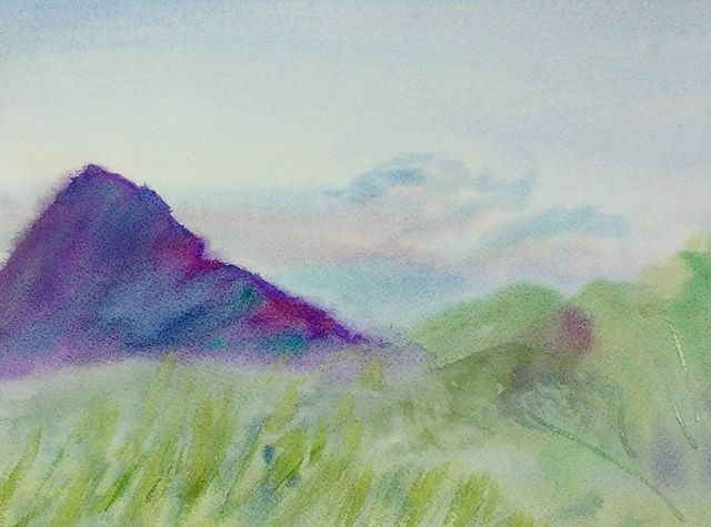 """Sharptop Mountain Fog"" original fine art by Maria Peagler"