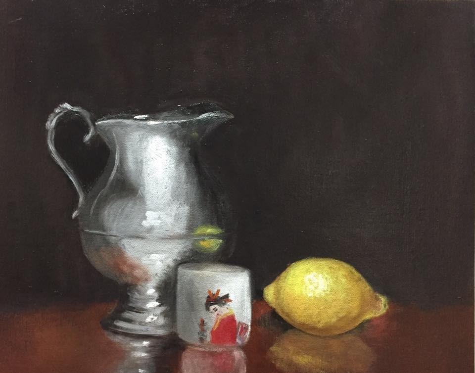"""Silver Creamer"" original fine art by Minnie Bhupathi"