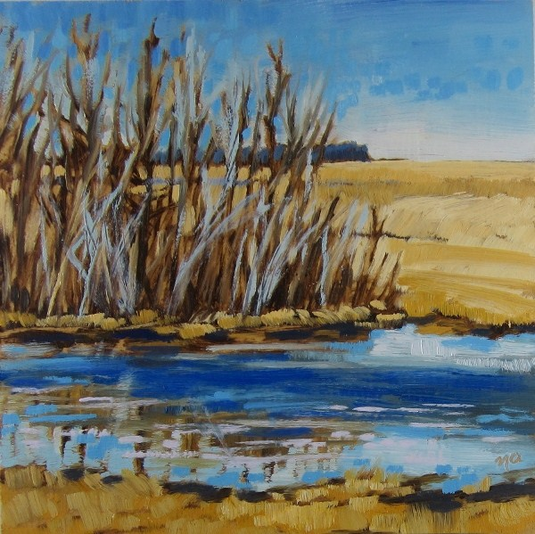 """Watering Hole"" original fine art by Nicki Ault"