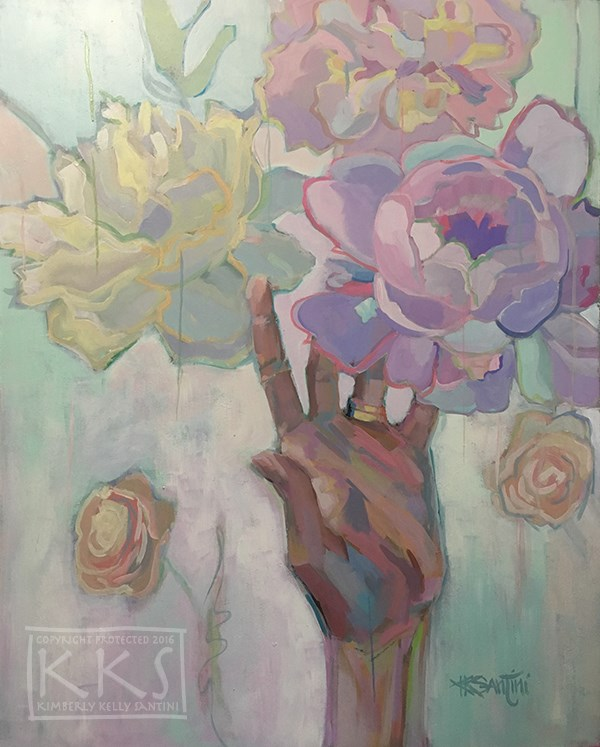 """Reach"" original fine art by Kimberly Santini"