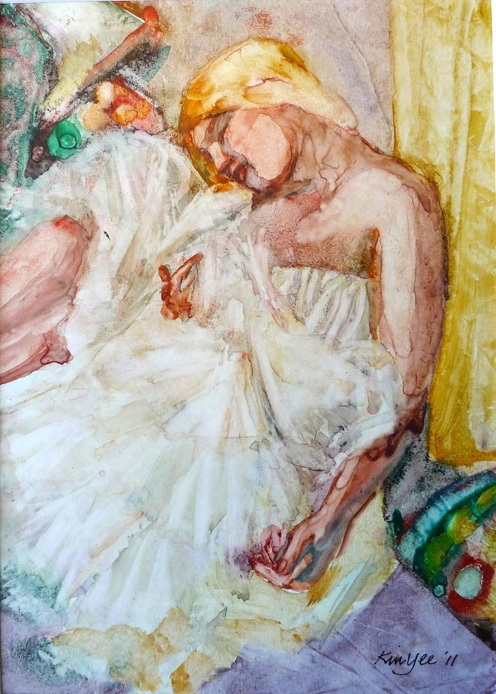 """""""'Colombine' sleeping 2"""" original fine art by Myriam Kin-Yee"""