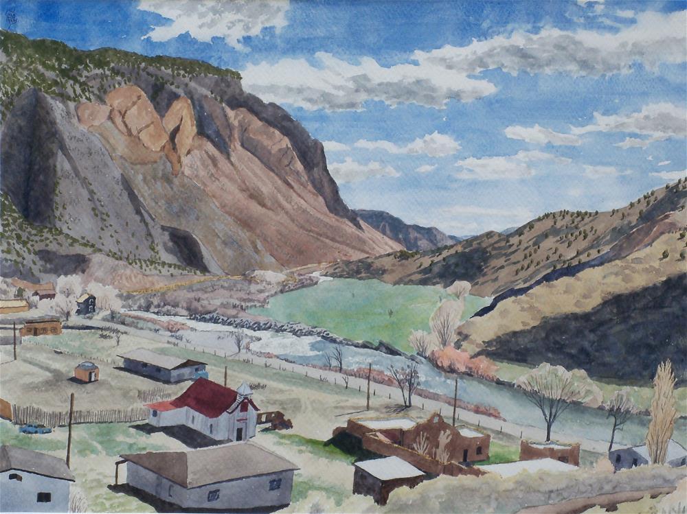 """Rio Grande at Pilar II"" original fine art by Greg Arens"