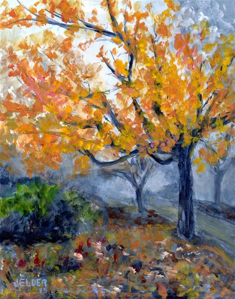 """Fall With Fog"" original fine art by Judith Elder"