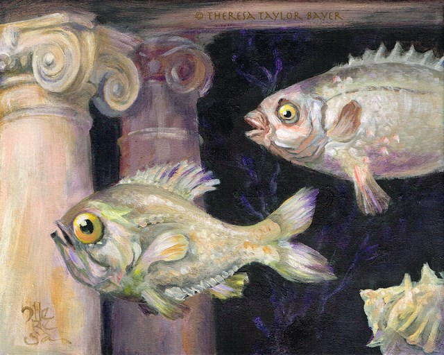 """""""Fish Temple"""" original fine art by Theresa Taylor Bayer"""