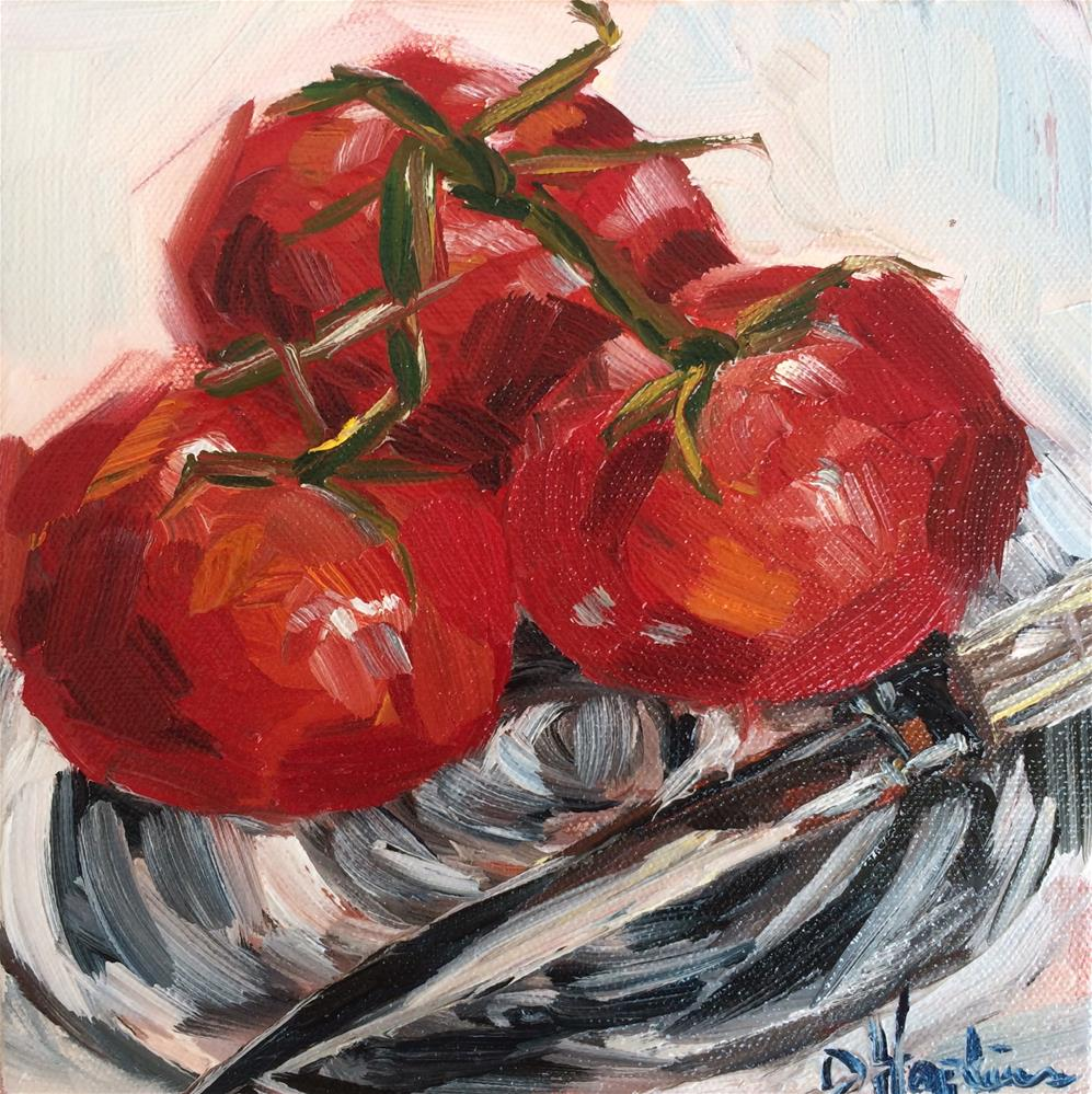 """Love Tomatoes"" original fine art by Denise Hopkins"