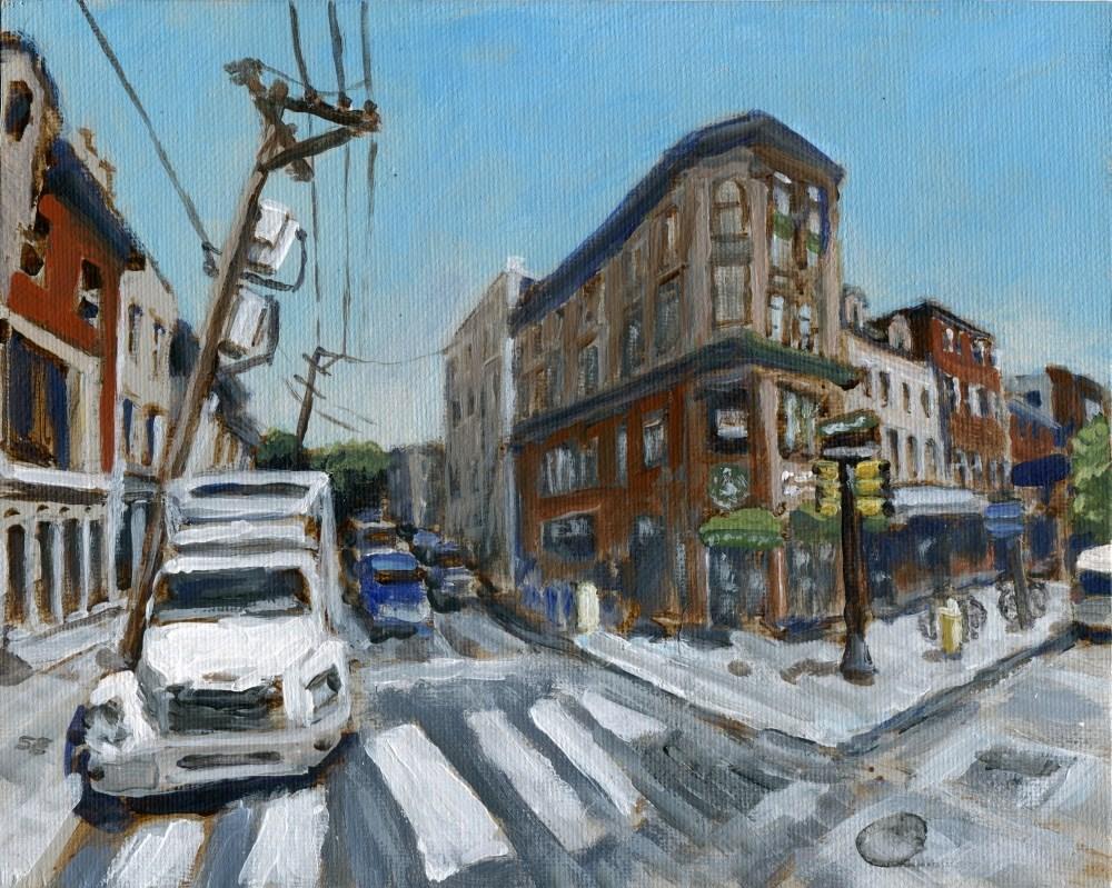 """South Street, Philadelphia"" original fine art by Stanley Epperson"