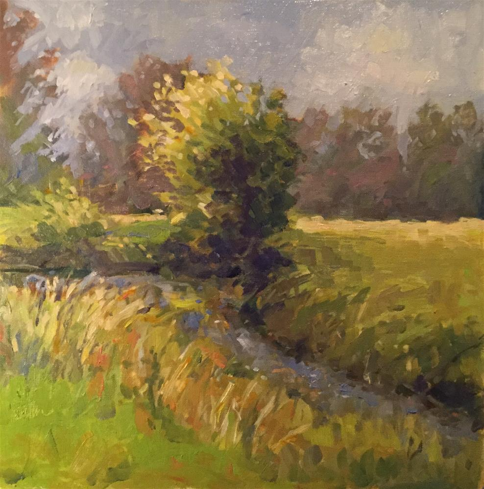 """Summer Creek"" original fine art by Barb Walker"