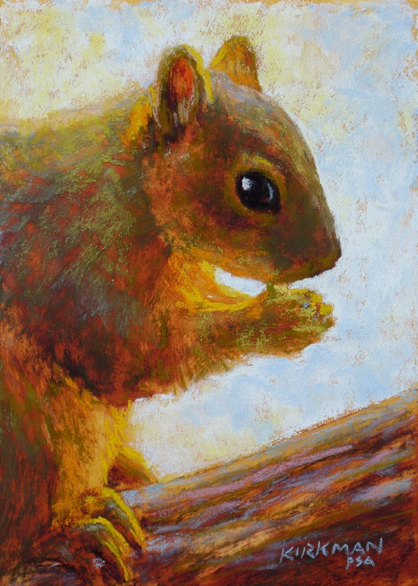 """Squirrelly"" original fine art by Rita Kirkman"