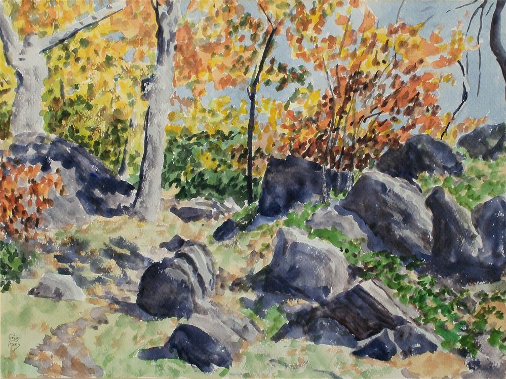 """Rocky Knob Rocks"" original fine art by Greg Arens"