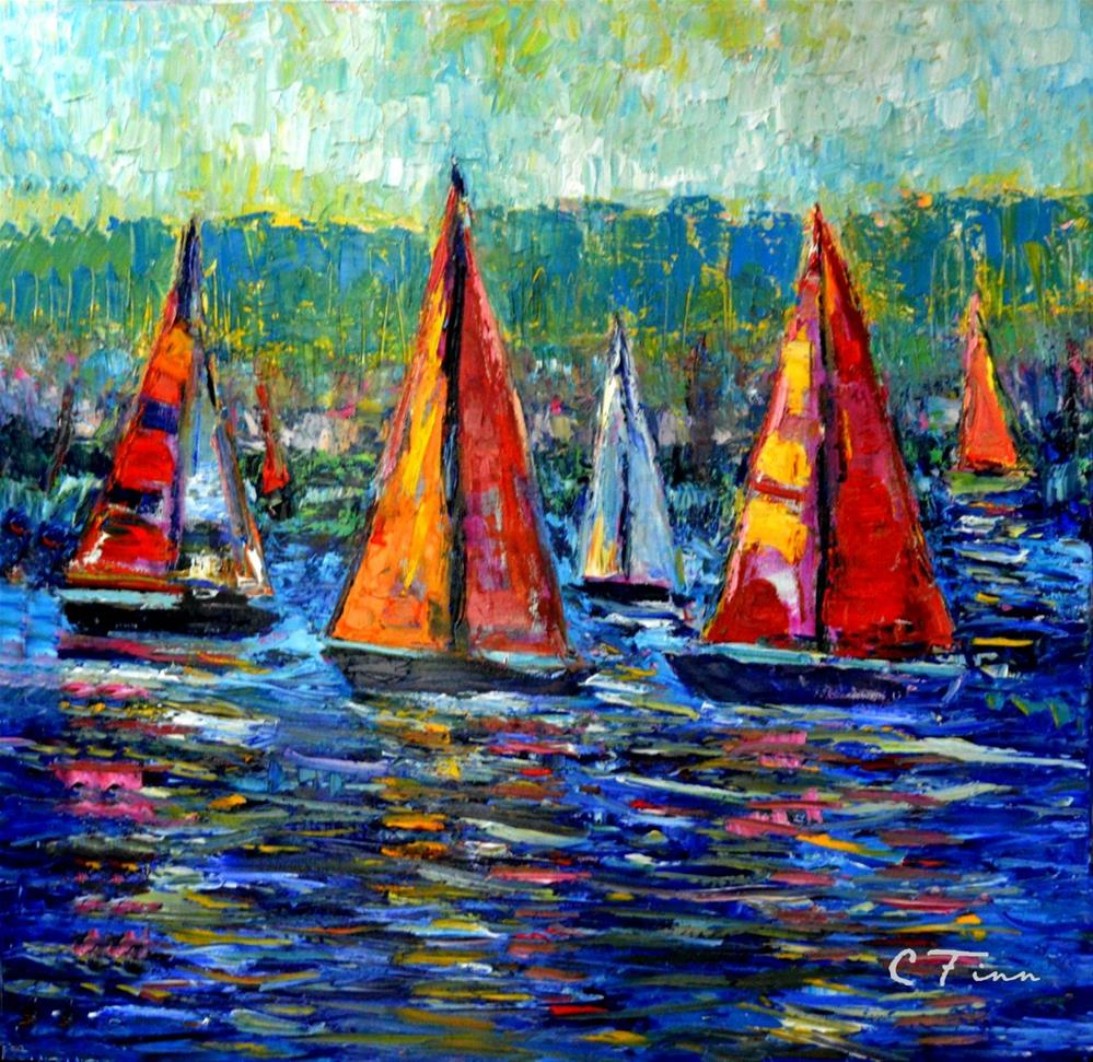 """Bringing In the Boats"" original fine art by Claudia Finn"