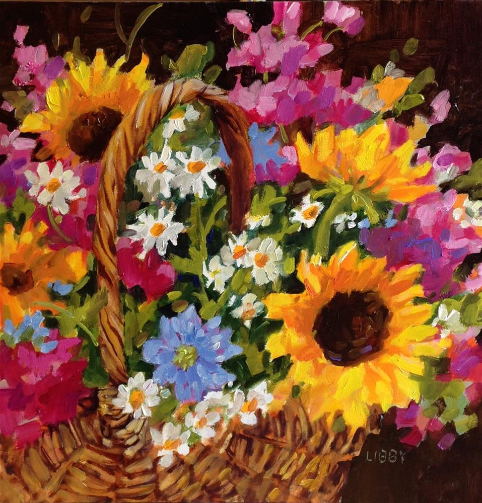 """Party Basket"" original fine art by Libby Anderson"