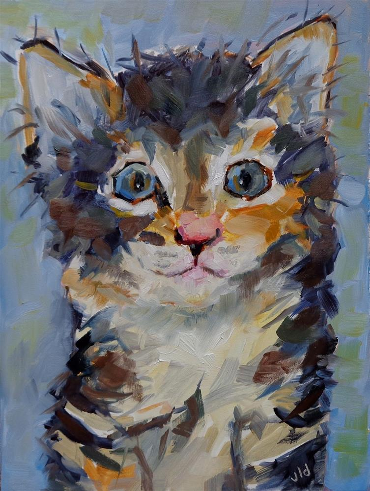 """KITTENISH"" original fine art by Jean Delaney"