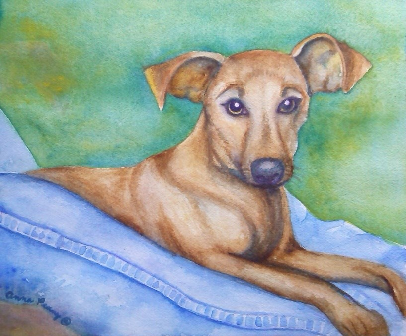 """Gretta"" original fine art by Anna Penny"