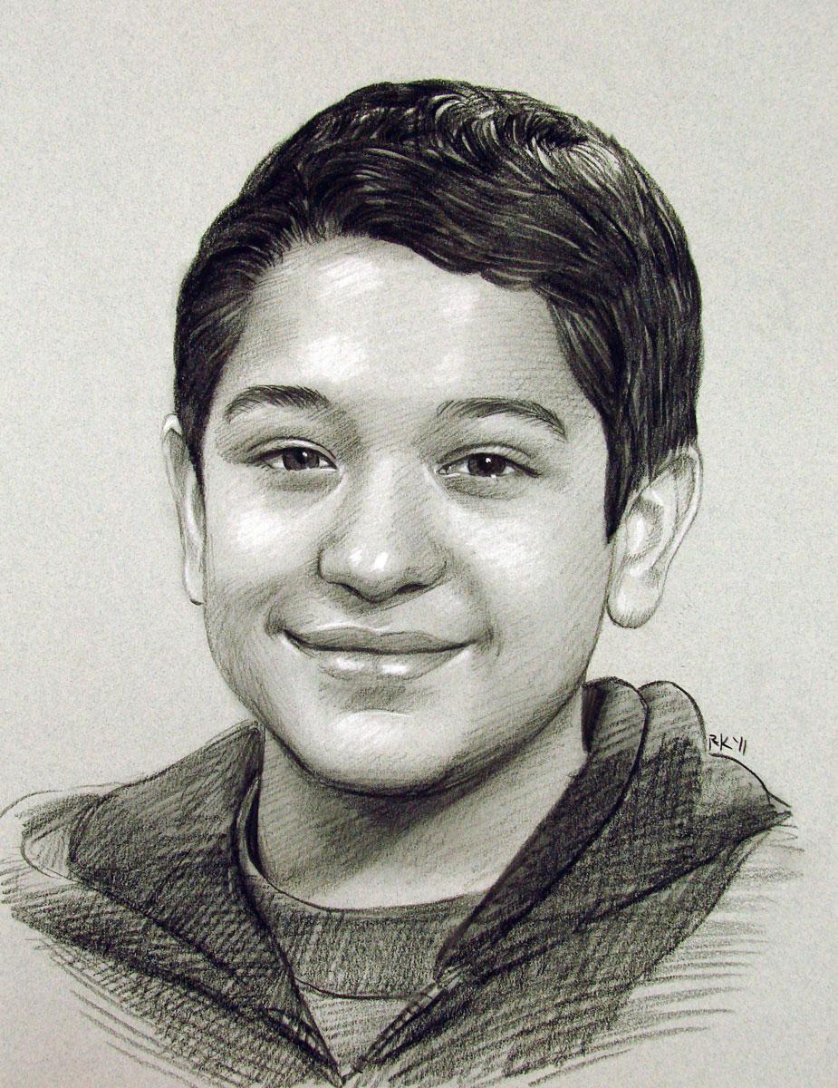 """""""Young Man - A Portrait Commission"""" original fine art by Rita Kirkman"""