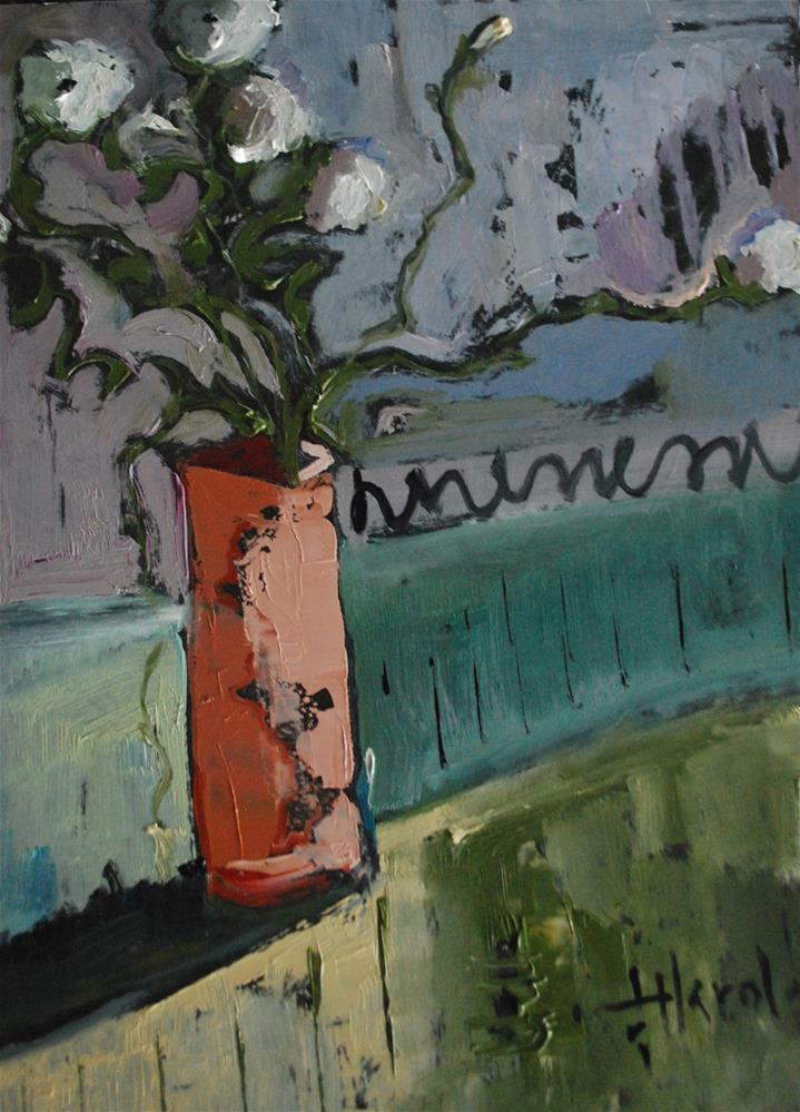 """White Ranunculus"" original fine art by Deborah Harold"