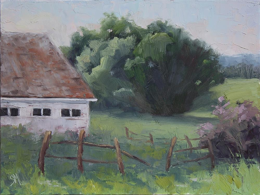 """Behind the Farm"" original fine art by Sheila Marie"