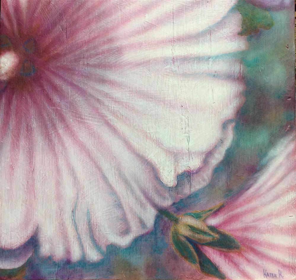 """Pink Blush"" original fine art by Karen Roncari"