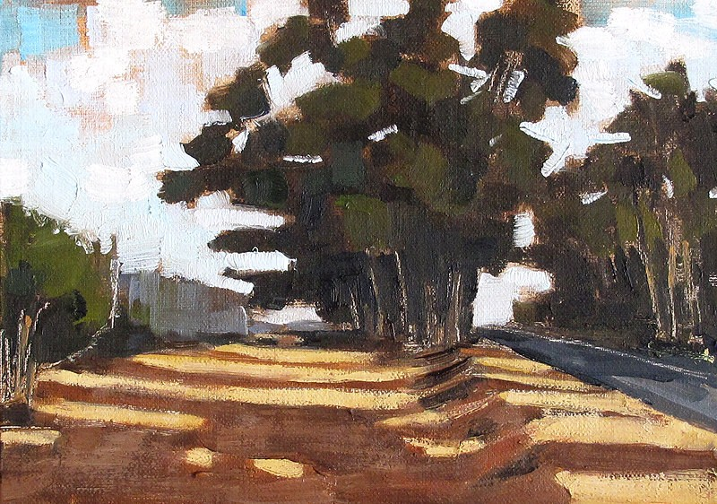 """Painting of San Diego Eucalyptus Trees"" original fine art by Kevin Inman"