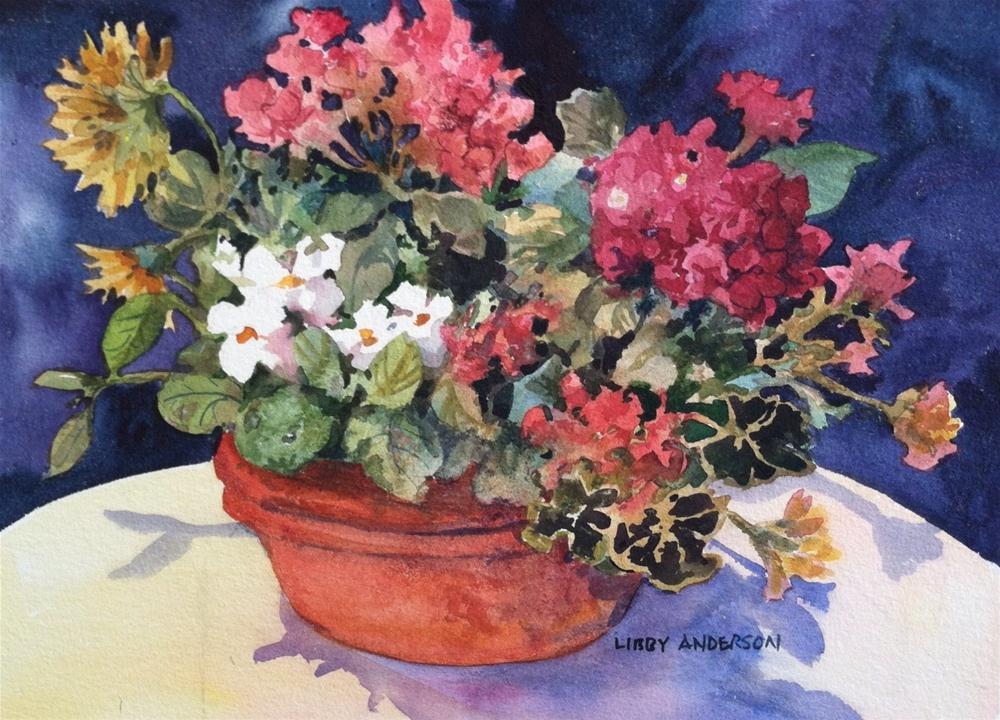 """Summer Planter"" original fine art by Libby Anderson"