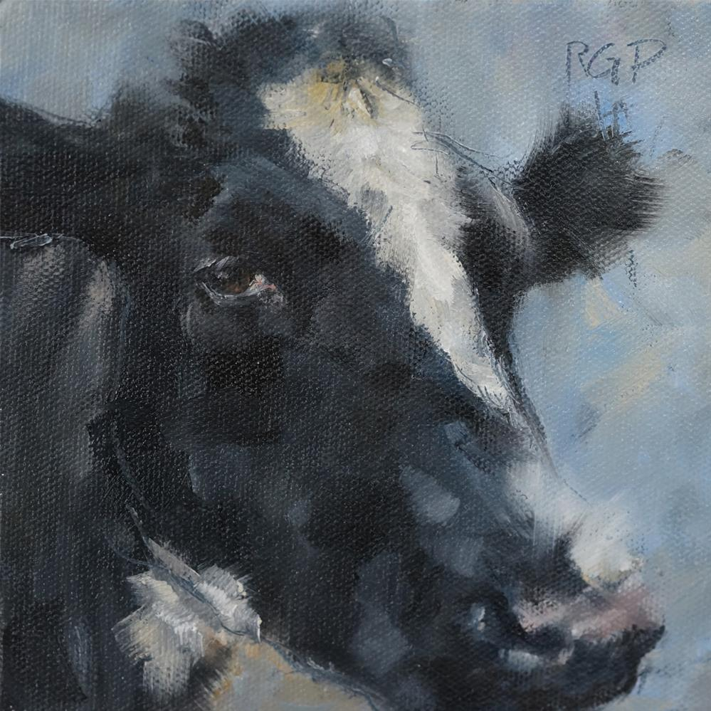 """Soulful Cow"" original fine art by Rhea  Groepper Pettit"