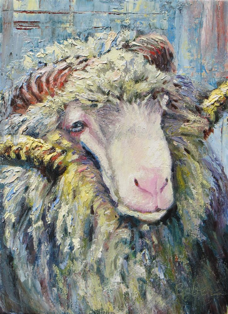 """Sheep Texture Challenge"" original fine art by gabriele baber"