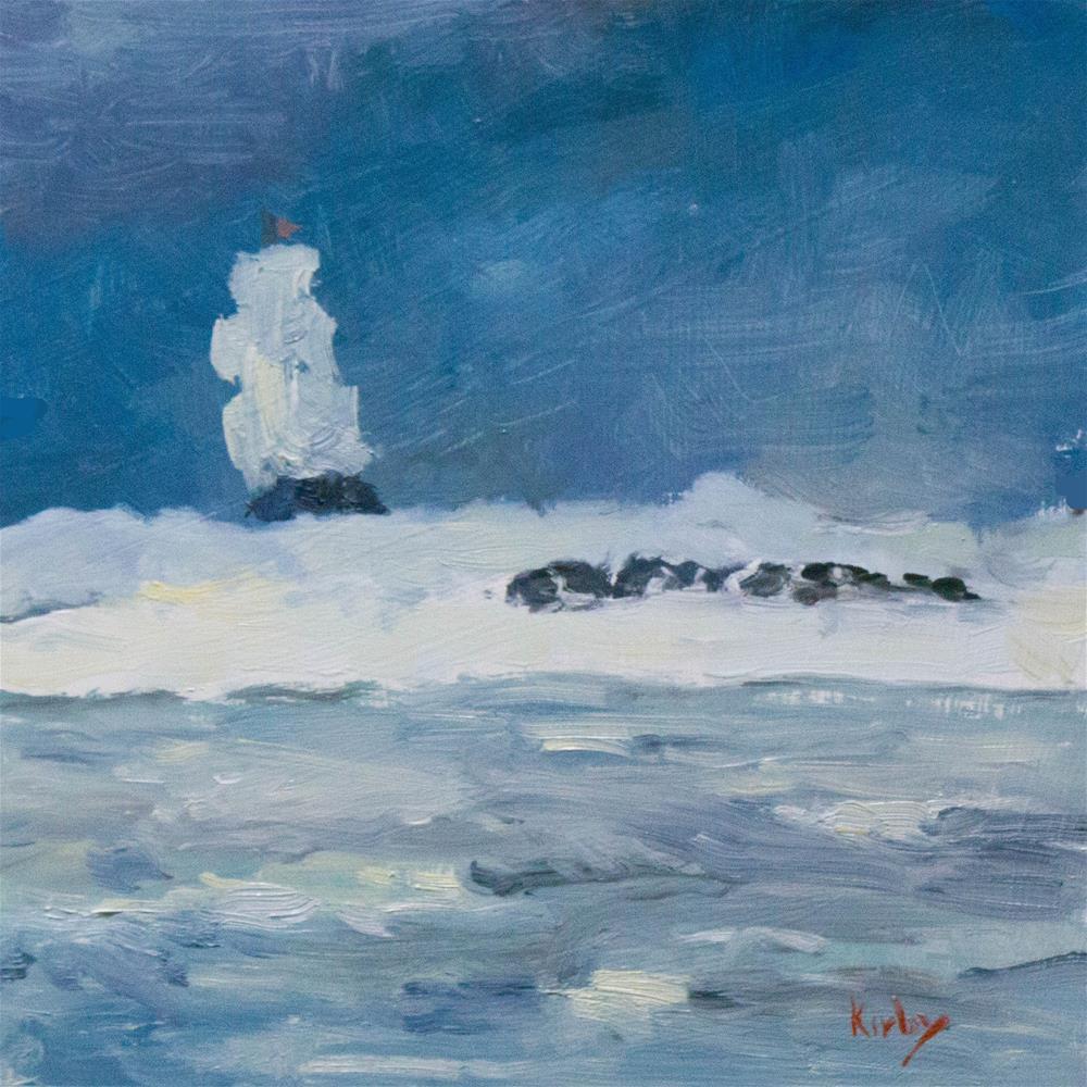 """Outer Reef 7, Skip Jack"" original fine art by Randall Cogburn"