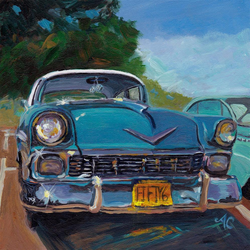 """'56 Chevy"" original fine art by Anna Castelli"