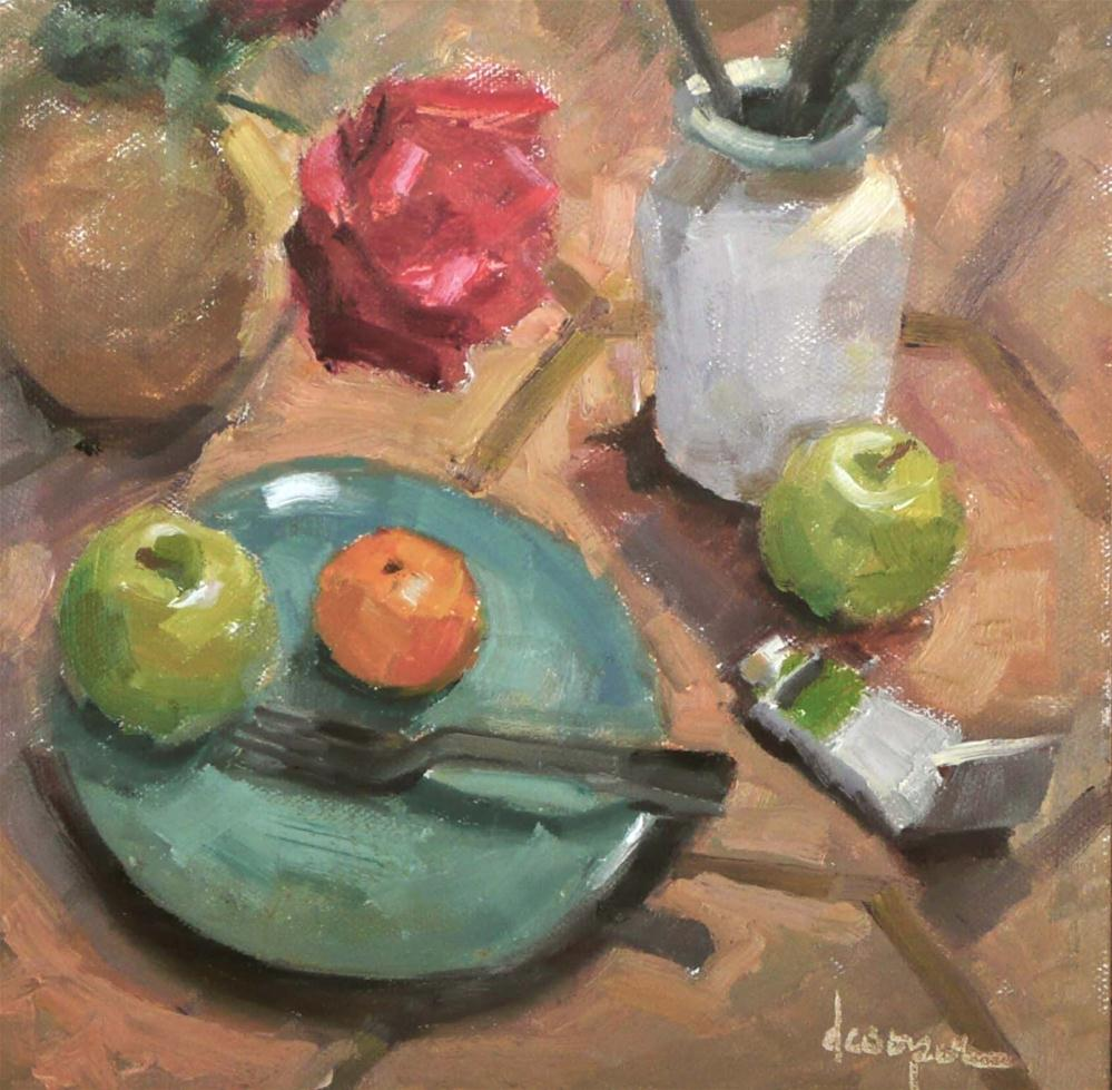"""The Gathering"" original fine art by Dana Cooper"