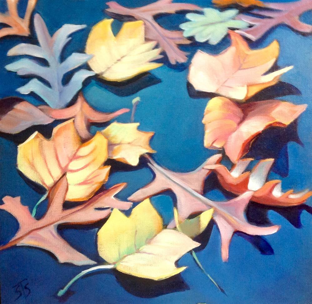 """Floating leaves"" original fine art by Susan Suraci"