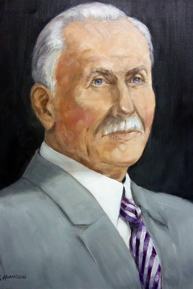 """Charles Mickle Sr."" original fine art by Helene Adamson"