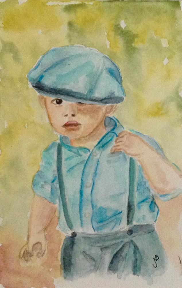 """Irish Lad"" original fine art by Nancy Beard"