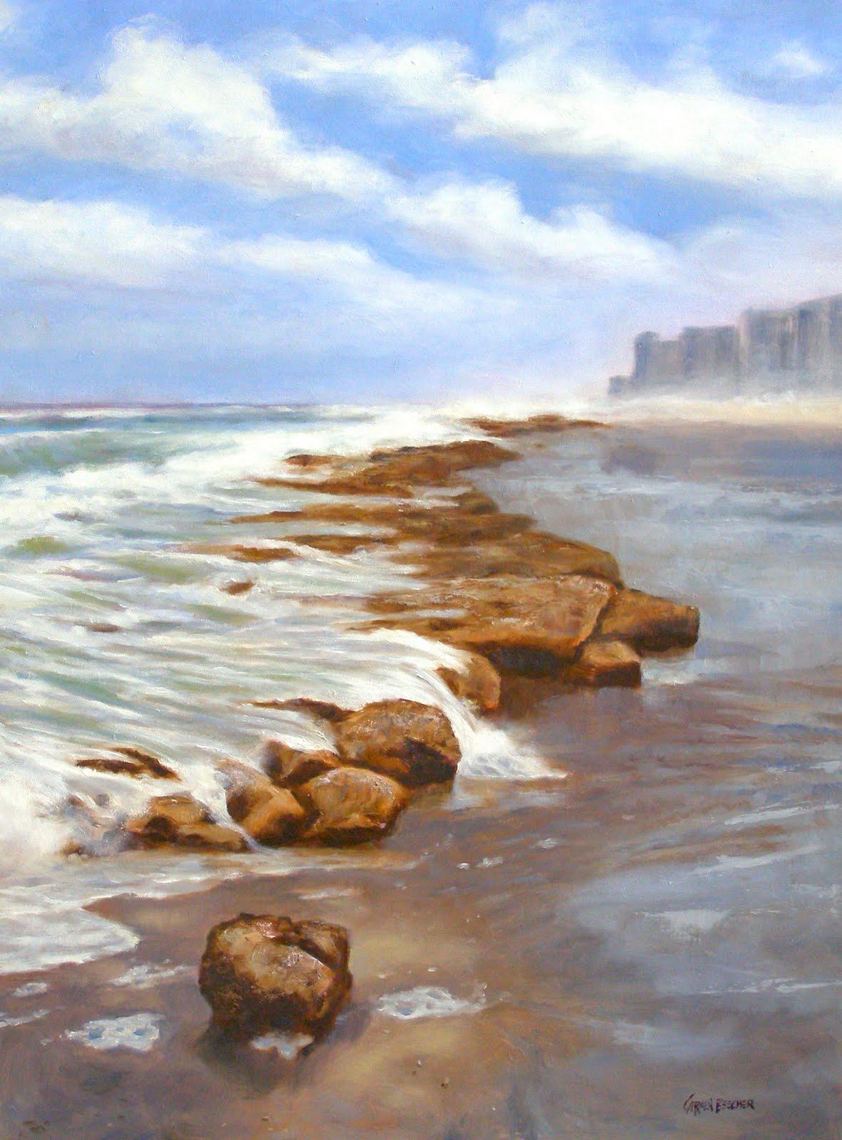 """""""Oceansong, 18x24"""" original fine art by Carmen Beecher"""
