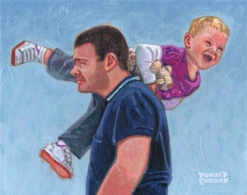 """Me and Dad"" original fine art by Donald Curran"